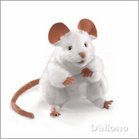 Folkmanis hand puppet white mouse