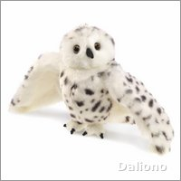 Folkmanis hand puppet snowy owl