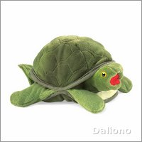 Folkmanis hand puppet baby turtle