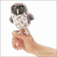 Folkmanis finger puppet mini spotted owl