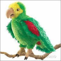 Folkmanis hand puppet Amazon parrot