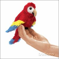 Folkmanis Fingerpuppe mini Papagei