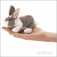 Folkmanis finger puppet mini bunny rabbit