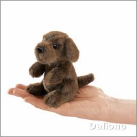 Folkmanis finger puppet mini sitting dog