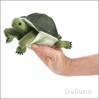 Folkmanis finger puppet mini turtle