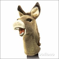 Folkmanis hand puppet donkey (stage puppet)