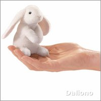 Folkmanis finger puppet mini lop ear rabbit