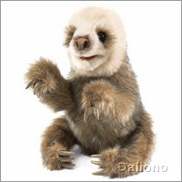 Folkmanis hand puppet baby sloth