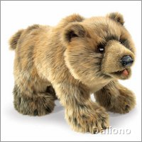 Folkmanis hand puppet grizzly bear