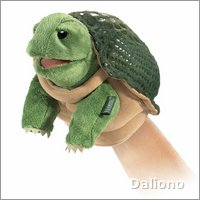 Folkmanis hand puppet little turtle (small stage puppet)