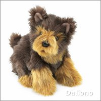 Folkmanis hand puppet yorkie pup