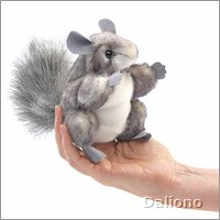Folkmanis finger puppet mini chinchilla