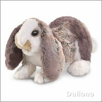 Folkmanis hand puppet baby lop rabbit