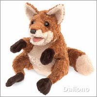 Folkmanis hand puppet crafty fox