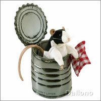 Folkmanis hand puppet rat in tin can
