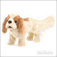 Folkmanis hand puppet Cavalier King Charles Spaniel