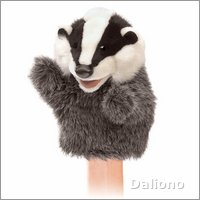 Folkmanis hand puppet little badger