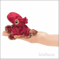 Folkmanis finger puppet mini red octopus