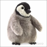 Folkmanis hand puppet baby emperor penguin