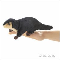Folkmanis finger puppet mini river otter