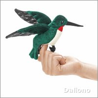 Folkmanis finger puppet mini hummingbird