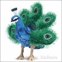 Folkmanis hand puppet small peacock