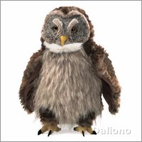 Folkmanis hand puppet hooting owl