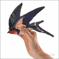 Folkmanis finger puppet barn swallow