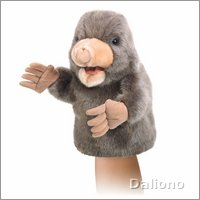 Folkmanis hand puppet little mole