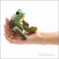 Folkmanis finger puppet mini sitting frog