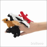 Folkmanis great smoky mountain animal finger puppets Set