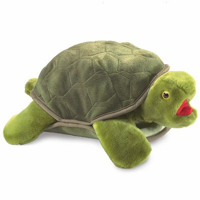 Folkmanis hand puppet turtle