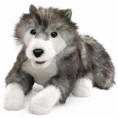 Folkmanis hand puppet timber wolf