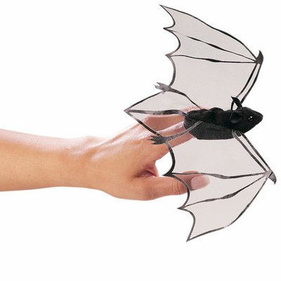 Folkmanis finger puppet mini bat