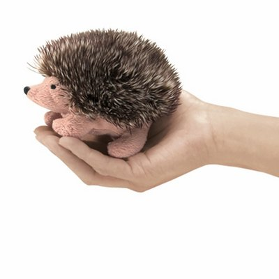 Folkmanis finger puppet mini hedgehog