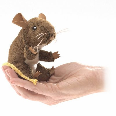 Folkmanis finger puppet mini field mouse