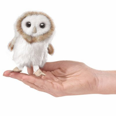Folkmanis finger puppet mini barn owl