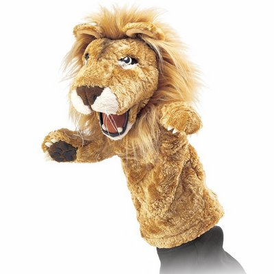 Folkmanis hand puppet lion (stage puppet)