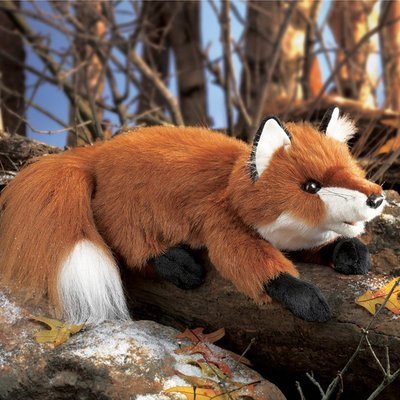 Folkmanis hand puppet small red fox