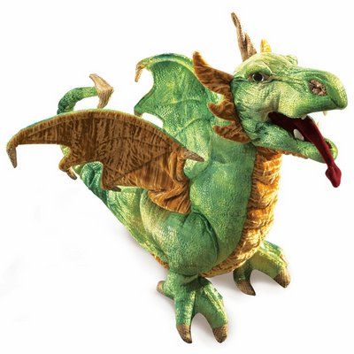 Folkmanis hand puppet wyvern dragon