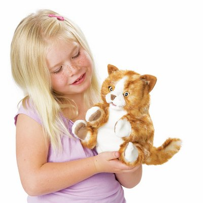 Folkmanis hand puppet orange tabby kitten
