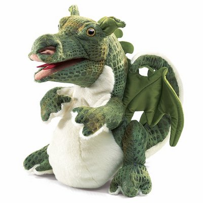 Folkmanis hand puppet baby dragon