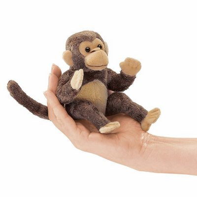 Folkmanis finger puppet mini monkey