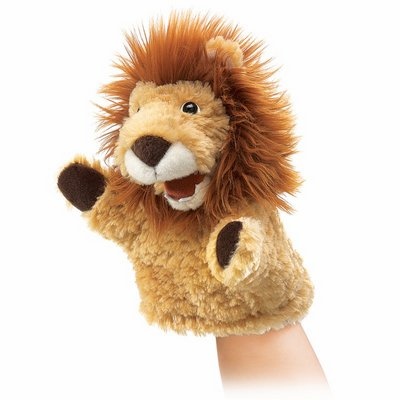 Folkmanis hand puppet little lion (small stage puppet)