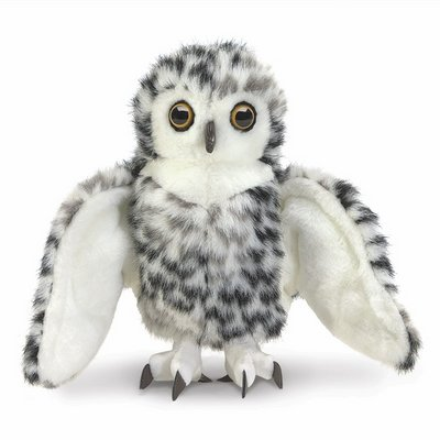 Folkmanis hand puppet small snowy owl
