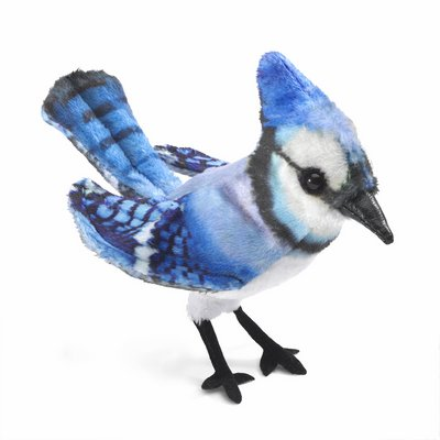 Folkmanis finger puppet mini blue jay