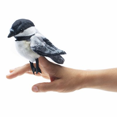 Folkmanis finger puppet mini chickadee