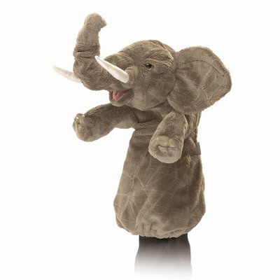 Folkmanis hand puppet elephant (stage puppet)