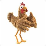 Folkmanis hand puppet chicken