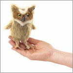 Folkmanis finger puppet mini great horned owl